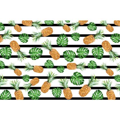 Cheeseplants & Pineapples Clutch Bag