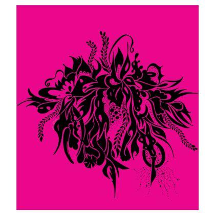 Skater dress - Skater Klänning - Ink Black Summer Feeling Pink