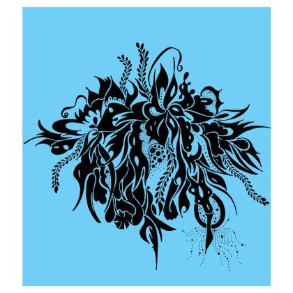 Skater dress - Skater Klänning - Ink Black Summer Feeling Light blue