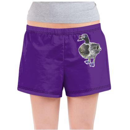 Ladies Pyjama Shorts - Disco Duck