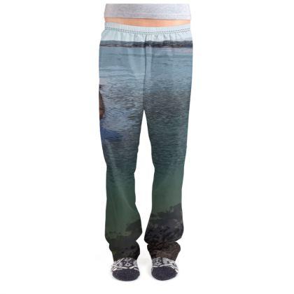 Ladies Pyjama Bottoms - Welsh Ocean