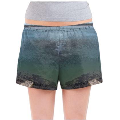 Ladies Pyjama Shorts - Welsh Ocean