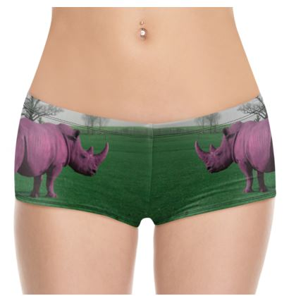 Hot Pants - Pink Rhino