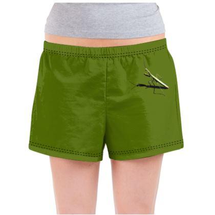 Ladies Pyjama Shorts - Mantis