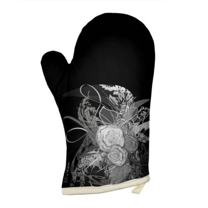 Oven Glove - Grytvante - 50 Shades of Lace Grey Black