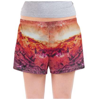 Ladies Pyjama Shorts - Tortoise Earth Full