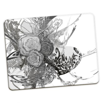 Placemats Medium - Bordstabletter Medium - 50 Shades of Lace Grey White