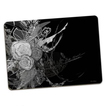 Large Placemats - Stora bordstabletter - 50 Shades of Lace Grey Black