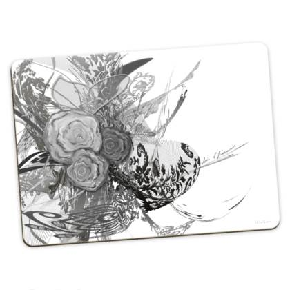 Large Placemats - Stora bordstabletter - 50 Shades of Lace Grey White