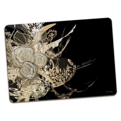 Large Placemats - Stora bordstabletter - 50 Shades of Lace Black