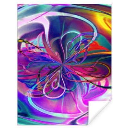 Gift Wrap Purple Flower