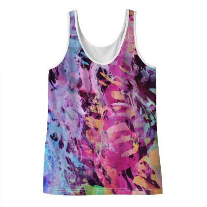 Ladies Vest Top Watercolor Texture 7
