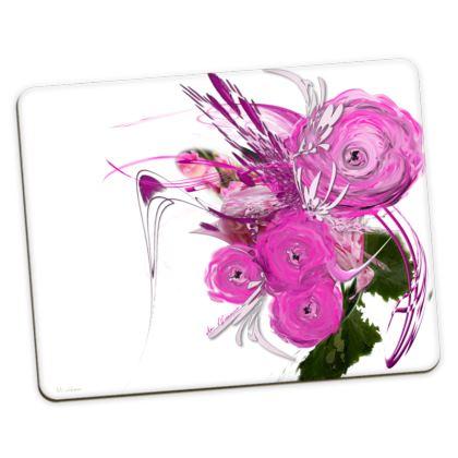 Placemats Medium - Bordstabletter Medium - Pink Summer Fantasy White