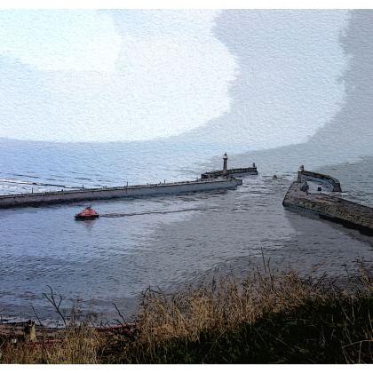 Kimono Jacket - Whitby Sea