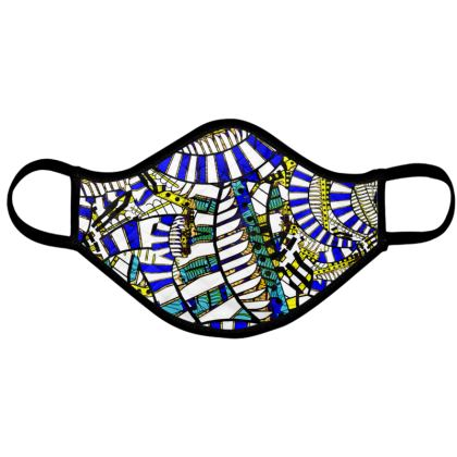 Wings of Death - Blue and White - Face Mask