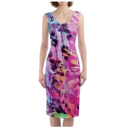Bodycon Dress Watercolor Texture 7
