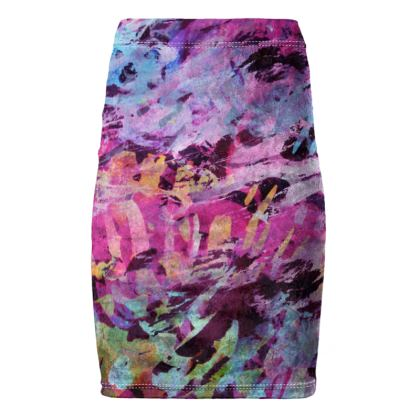 Pencil Skirt Watercolor Texture