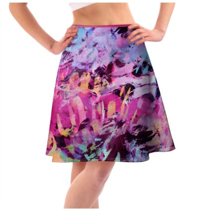 Flared Skirt Watercolor Texture 7