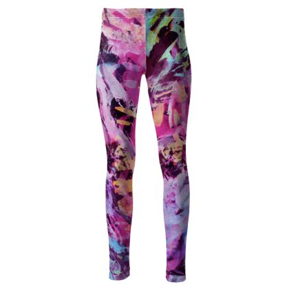 High Waisted Leggings Watercolor Texture 7