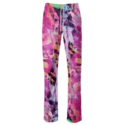 Womens Trousers Watercolor Texture 7