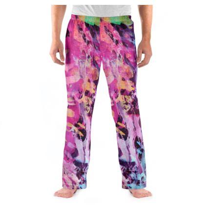 Mens Pyjama Bottoms Watercolor Texture 7