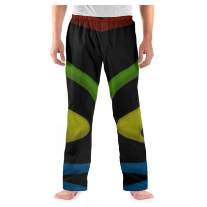 Men's Pyjama Bottoms - Simple Colours (Black)