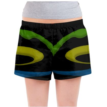 Ladies Pyjama Shorts - Simple Colours (Black)