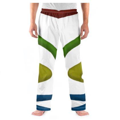 Men's Pyjama Bottoms - Simple Colours (White)