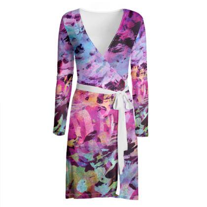 Wrap Dress Watercolor Texture 7
