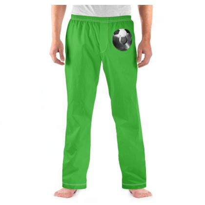 Men's Pyjama Bottoms - Football Vinyl
