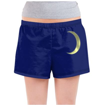 Ladies Pyjama Shorts - Vinyl Moon