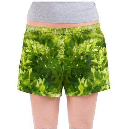 Ladies Pyjama Shorts - Coriander
