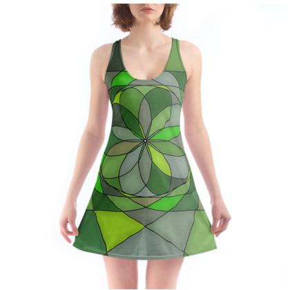 Chemise - Green spiral