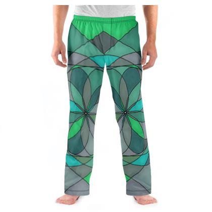 Men's Pyjama Bottoms - Jade spiral