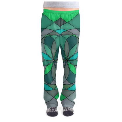 Ladies Pyjama Bottoms - Jade spiral