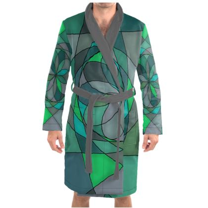 Dressing Gown - Jade spiral