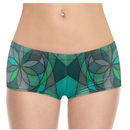 Hot Pants - Jade spiral