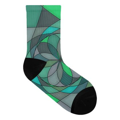 Socks - Jade spiral