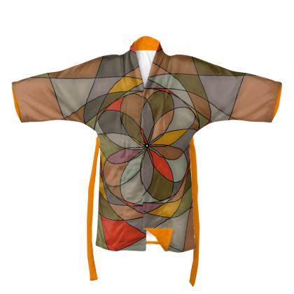 Kimono - Orange spiral