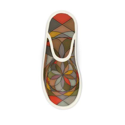 Slippers - Orange spiral