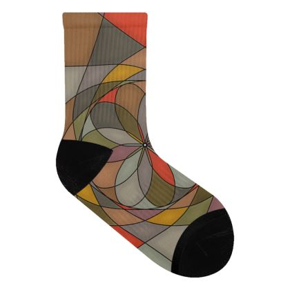 Socks - Orange spiral