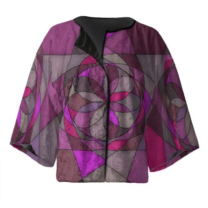 Kimono Jacket - Pink spiral