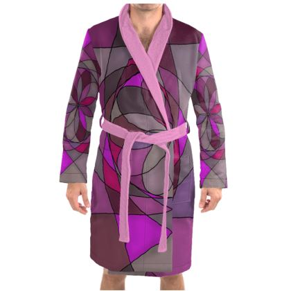Dressing Gown - Pink spiral