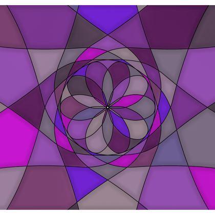 Kimono Jacket - Purple spiral
