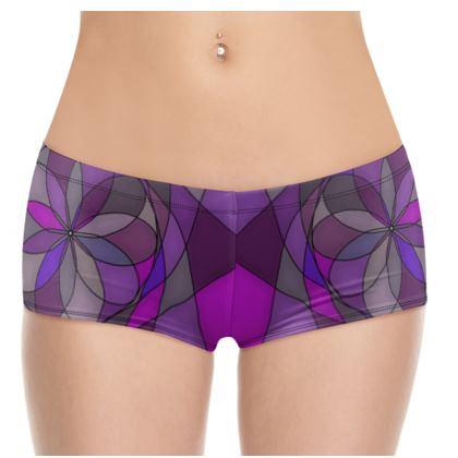 Hot Pants - Purple spiral