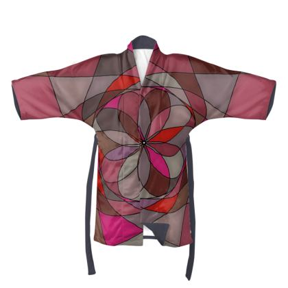 Kimono - Red spiral