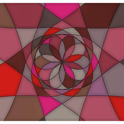 Kimono Jacket - Red spiral