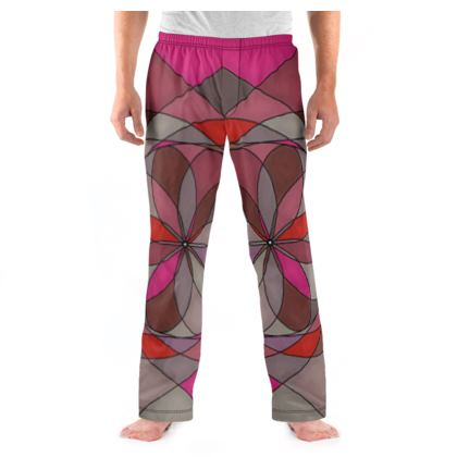 Men's Pyjama Bottoms - Red spiral