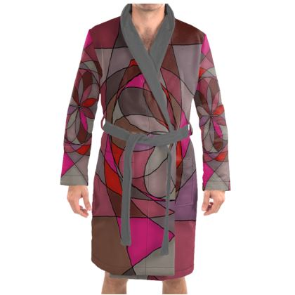 Dressing Gown - Red spiral