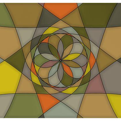 Kimono Jacket - Yellow Spiral